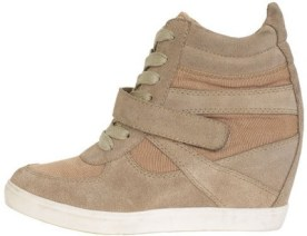 Wedge sneakers are my go-to shoe... just saying.