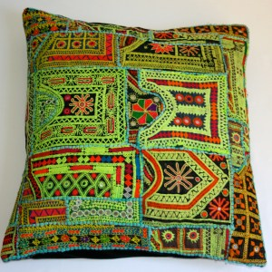 green floor cushion