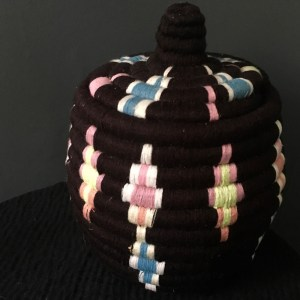 Moroccan storage basket