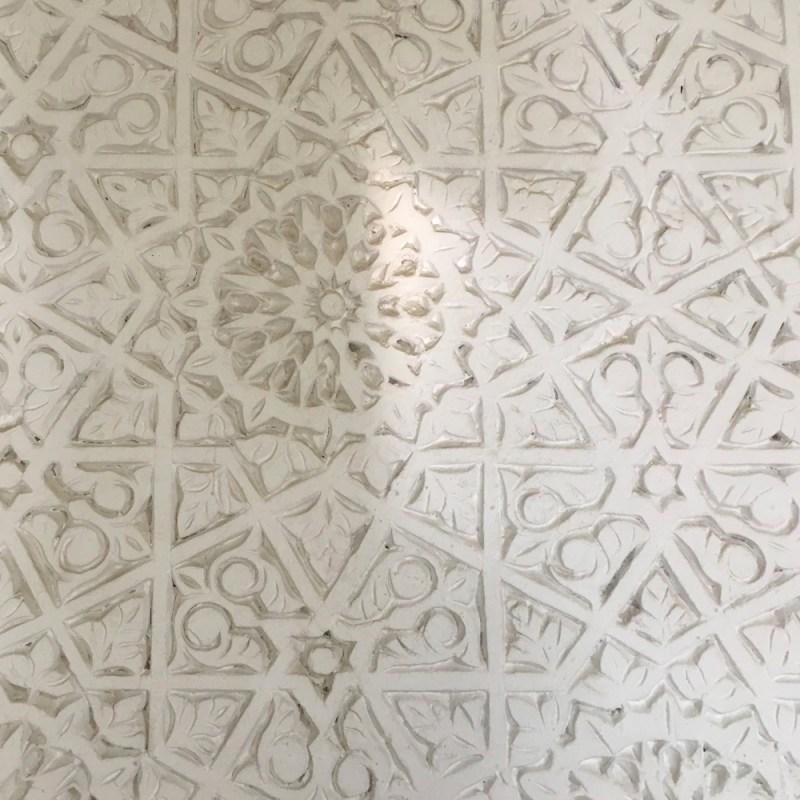 ceiling detail Riad Due Marrakech Maud interiors
