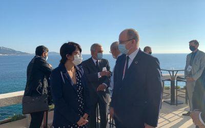 Nuevos retos para el Mediterráneo con zonas de protección fuertes en perspectiva. Las perspectivas de colaboración de UICN Francia se han discutido esta noche con S.A.S. el Príncipe Alberto II de Mónaco.