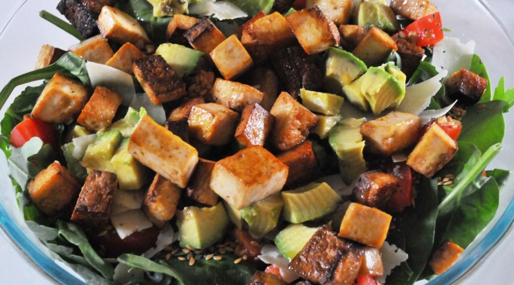 salade de tofu mariné