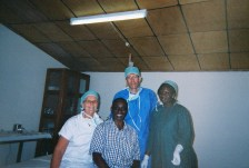 Marian, Doctor Mark Quartey, Esther, and assistant
