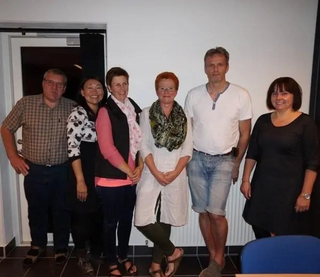 Den nyvalgte bestyrelse for SimFit 24/7 - Fra venstre: Bent Jensen (kasserer), Dorthe Skjærris (formand), Tina Skade, Marianne Amtoft, Jørgen Grau og Tine Boulund Christensen.