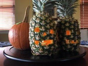 carving pineapples