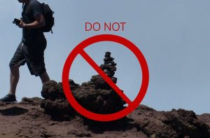 Do not stack the rocks