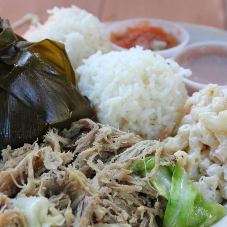 hawaiian plate lunch at aloha mixed plate lahaina