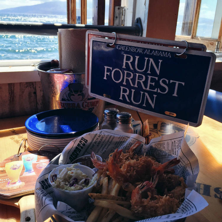 happy hour at bubba gump shrimp restaurant lahaina maui - maui happy hours