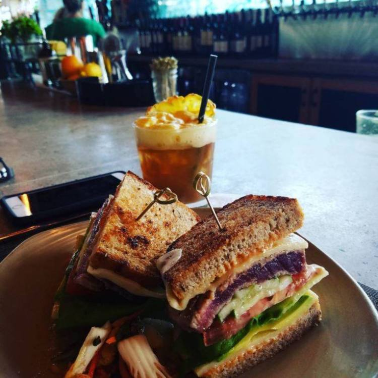 Monkeypod Kitchen by Merriman Wailea Maui Restaurant - Ahi Tuna and Mai Tai 2021 Food Photos