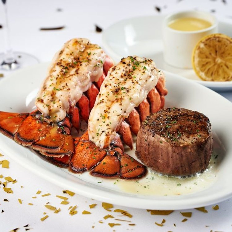 Surf and Turf at Ruth's Chris Steak House in Lahaina, Maui, HI