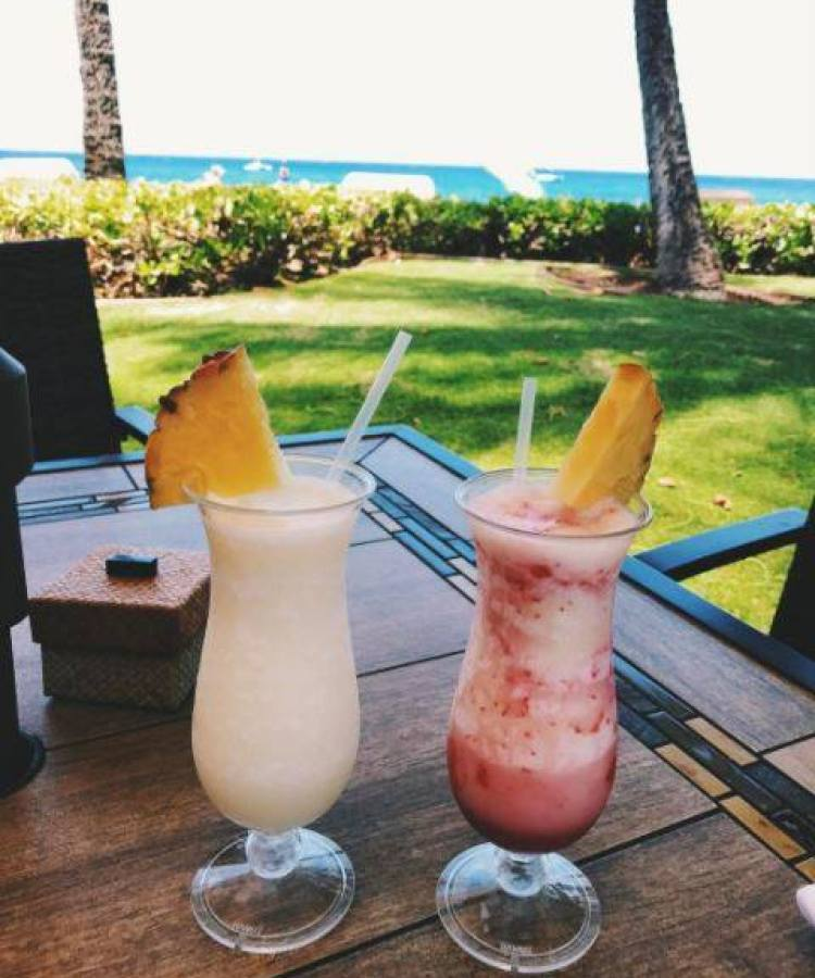 Lava Flow and Pina Colada on the Beach in Maui