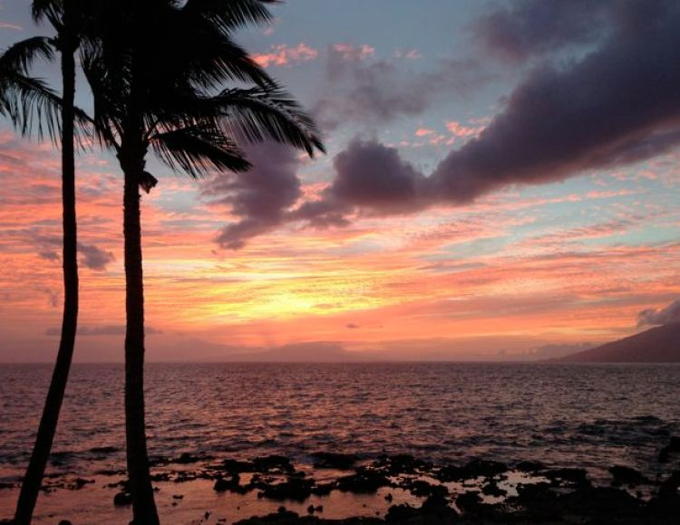 Sunset View at 5 Palms Restaurant in Maui, Hawaii