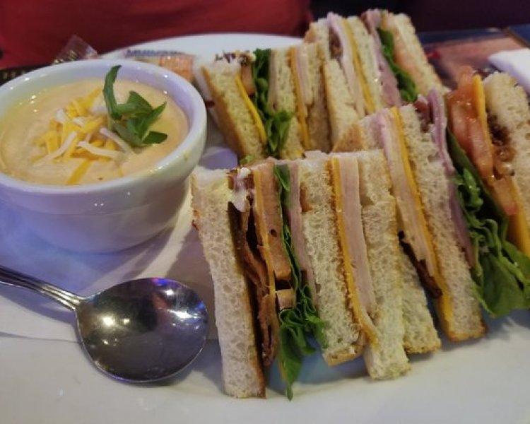 sandwich and soup from dollies sports bar maui - maui happy hours