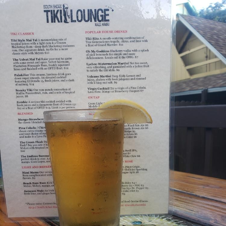 south shore tiki lounge happy hour menu
