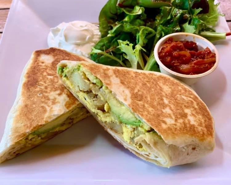 Breakfast Burrito at Cafe Des Amis Maui