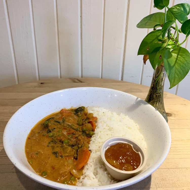 Vegetable Curry at Cafe Des Amis Maui Happy Hour