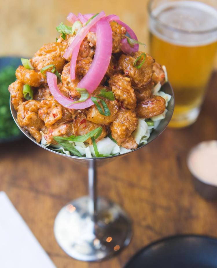 Happy Hour Lava Lava Shrimp - Down the Hatch - Triple D Restaurants