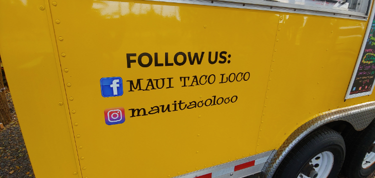 Maui Taco Loco on Facebook and Instagram