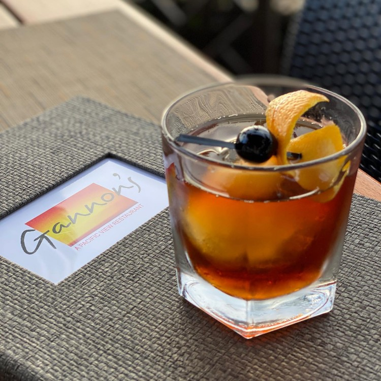 Old Fashioned Cocktail at Gannons Maui Happy Hour