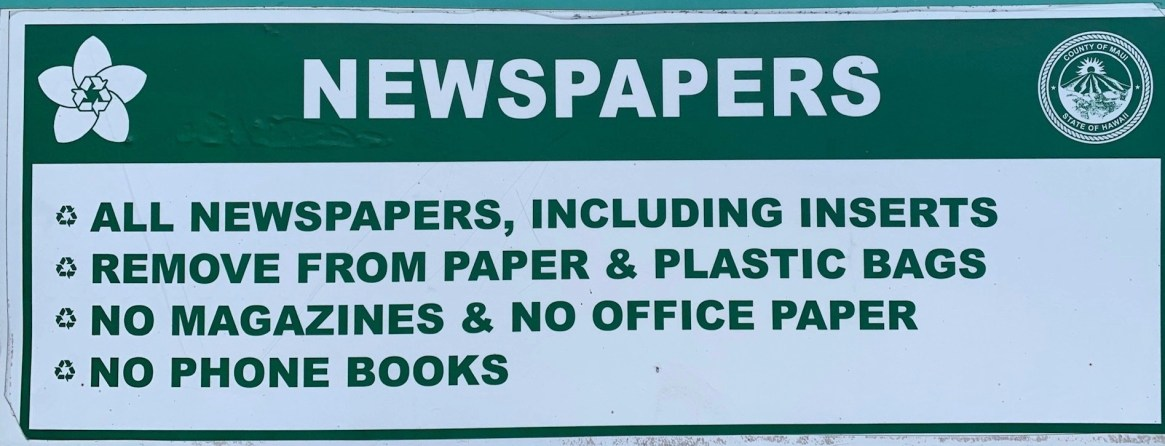 maui recycling newspapers