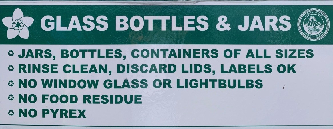 maui recycling glass beer bottles