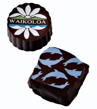 wedding and corporate logo custom chocolates
