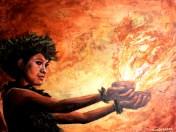 Island Heat by Taryn Alessandro Pele Fire Lava Hawaii Goddess