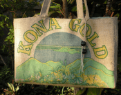 Kona Gold Handmade Coffee Burlap Bag