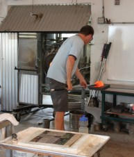 See live glass blowing most days at Hot Island Glass