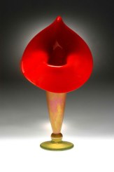 Red Blown Glass Lili Vase