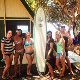 maui surf camp cabin surf board kazuma