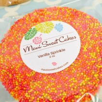 The Large Vanilla Sprinkle Cookie | Maui Sweet Cakes Packaging Ideas | Branding | How to Package Cookies | Great Graphics