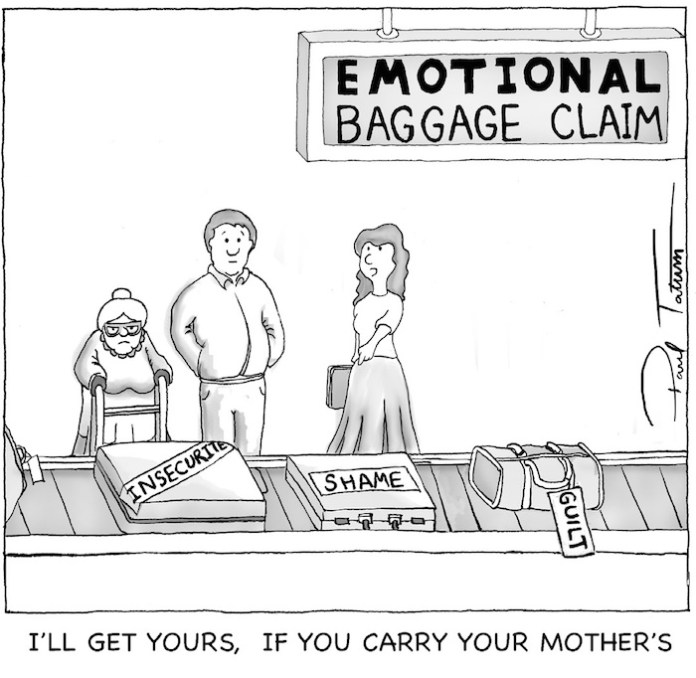 issues with Tissues emotional baggage