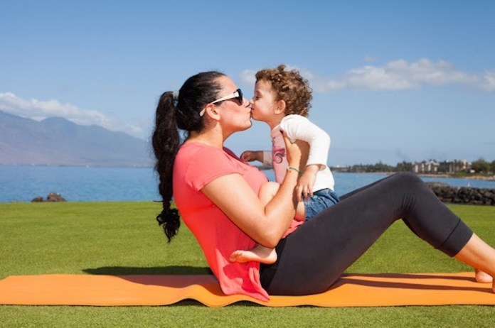 mama and baby exercises mother