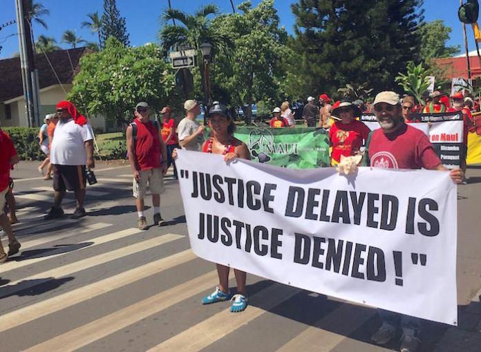 Shaka movement Aloha Aina Unity March