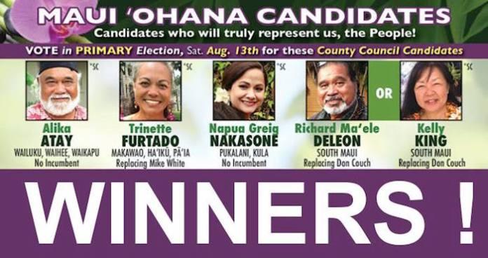 Maui Ohana Candidates