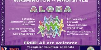 women's march Maui