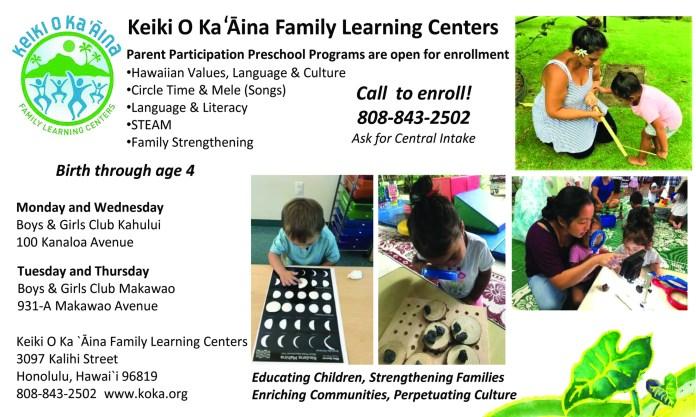 Keiki o Ka Aina Maui programs