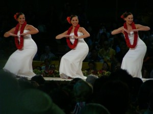 Halau Na Lei Kaumaka O Uka earned a fifth place finish in the hula auana division.  The women danced to the song Nani Wale Ku'u 'Ike.