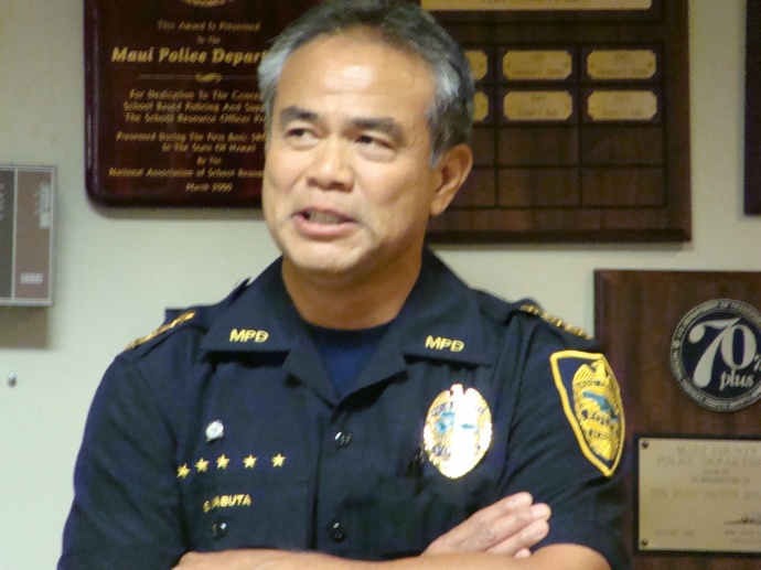 Maui Police Chief Gary Yabuta. File Photo by Wendy Osher.