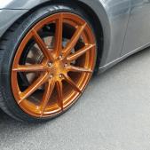 transparent copper rim on a lexus