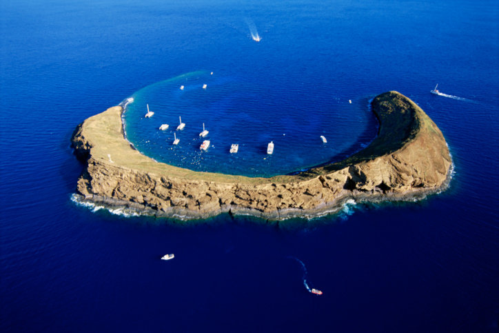 Molokini Crater, 1 of Maui's most popular Snorkeling and Scuba Diving locations