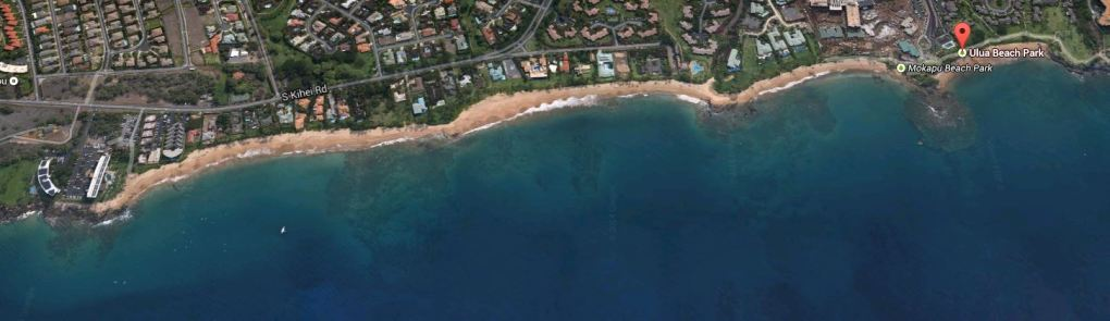 South Maui snorkel Beaches map