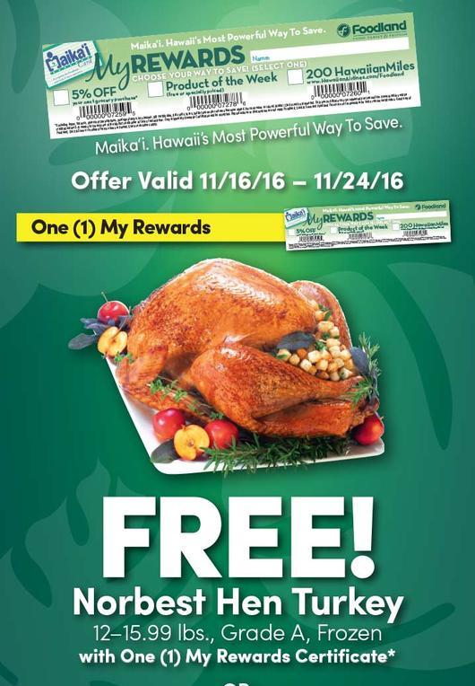 free thanksgiving turkeys molokai families
