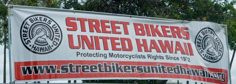 Street Bikers United Hawaii Banner