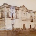 Casa de Hernán Cortés, 1858, Paul  de Rosti, fotografía sobre papel a la sal sobre cartón, colección Ricardo B. Salinas Pliego.