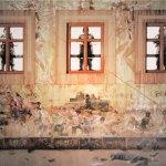 """Represión (detalle), 2017, Rafael Cauduro, giclée, papel algodón sobre madera con bastidor, exposición """"Estratos del Arte""""."""