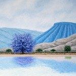 """Con el viento a favor, 2018, Guillermo Pons, óleo sobre tela, exposición """"Reflejos a Barlovento""""."""