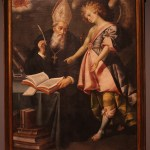 San Agustín y un ángel, segunda mitad del siglo XVII, José Juárez, Óleo sobre tela, Museo Nacional de Arte.