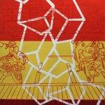 """Encontrar un espacio en el calor de la urbe, 2009, Alê Souto, acrílico sobre tela, exposición colectiva """"Artistas de Casa Lamm""""."""